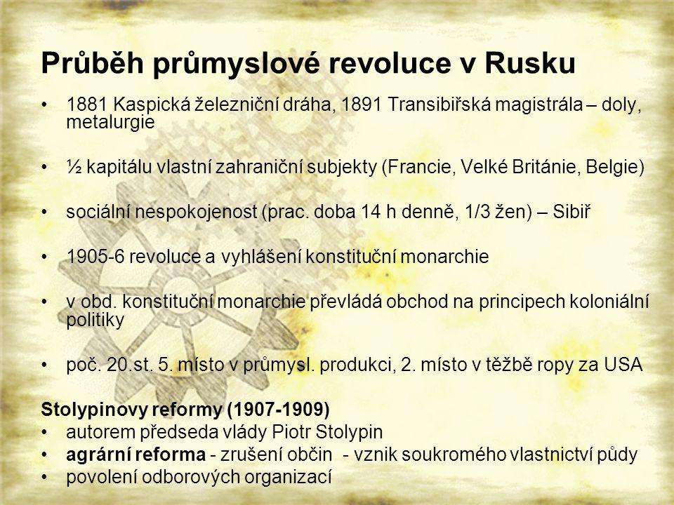 Průběh průmyslové revoluce v Rusku
