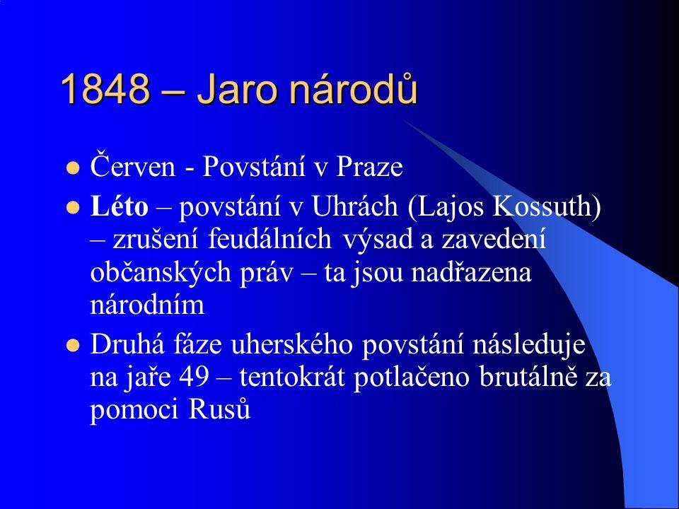 1848 – Jaro národů Červen - Povstání v Praze