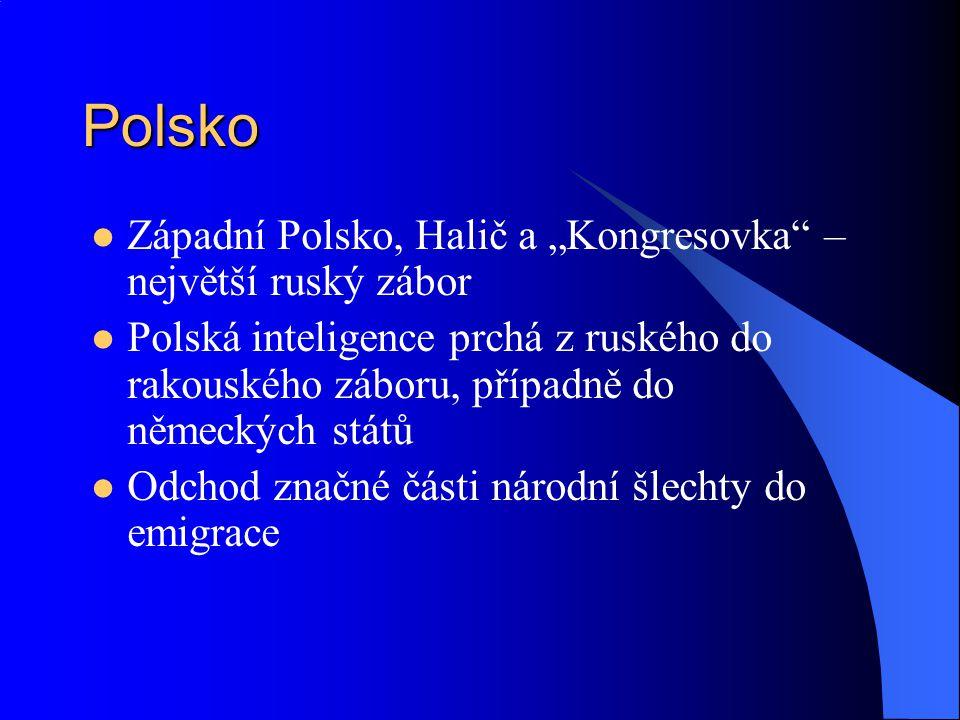 """Polsko Západní Polsko, Halič a """"Kongresovka – největší ruský zábor"""
