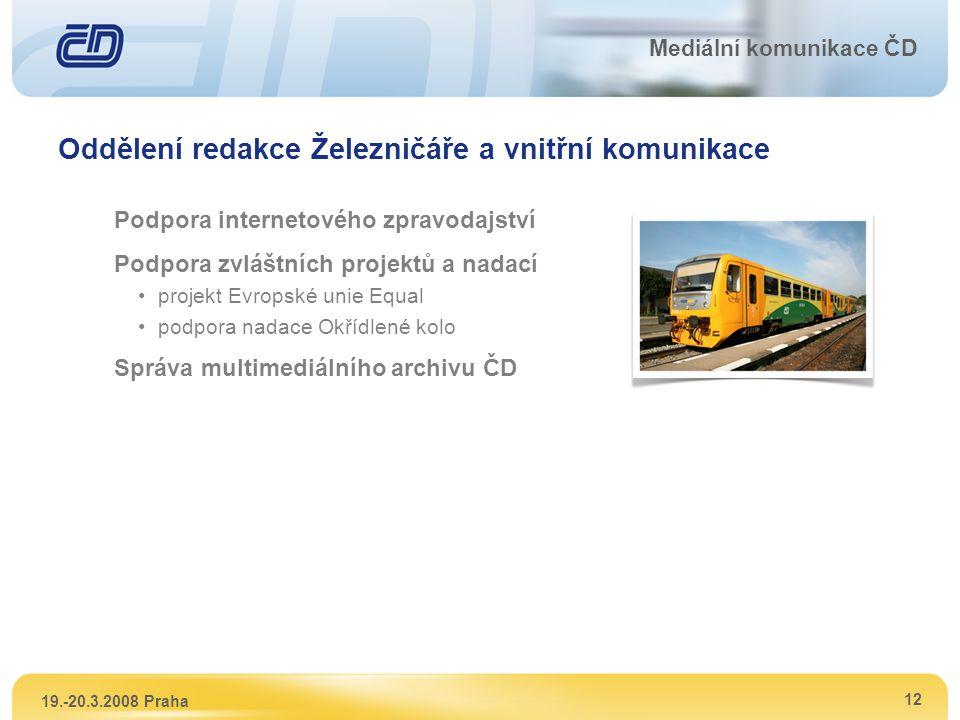 Oddělení redakce Železničáře a vnitřní komunikace