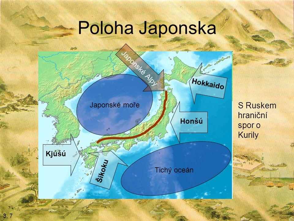 Poloha Japonska S Ruskem hraniční spor o Kurily Japonské Alpy Hokkaido