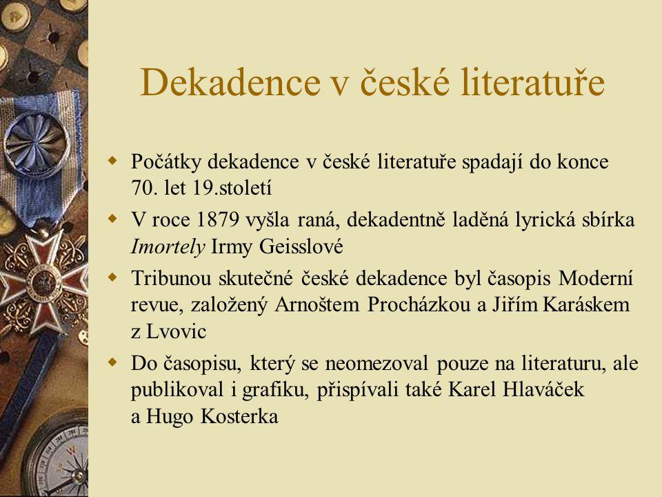 Dekadence v české literatuře