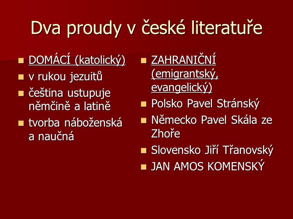 Dva proudy v české literatuře