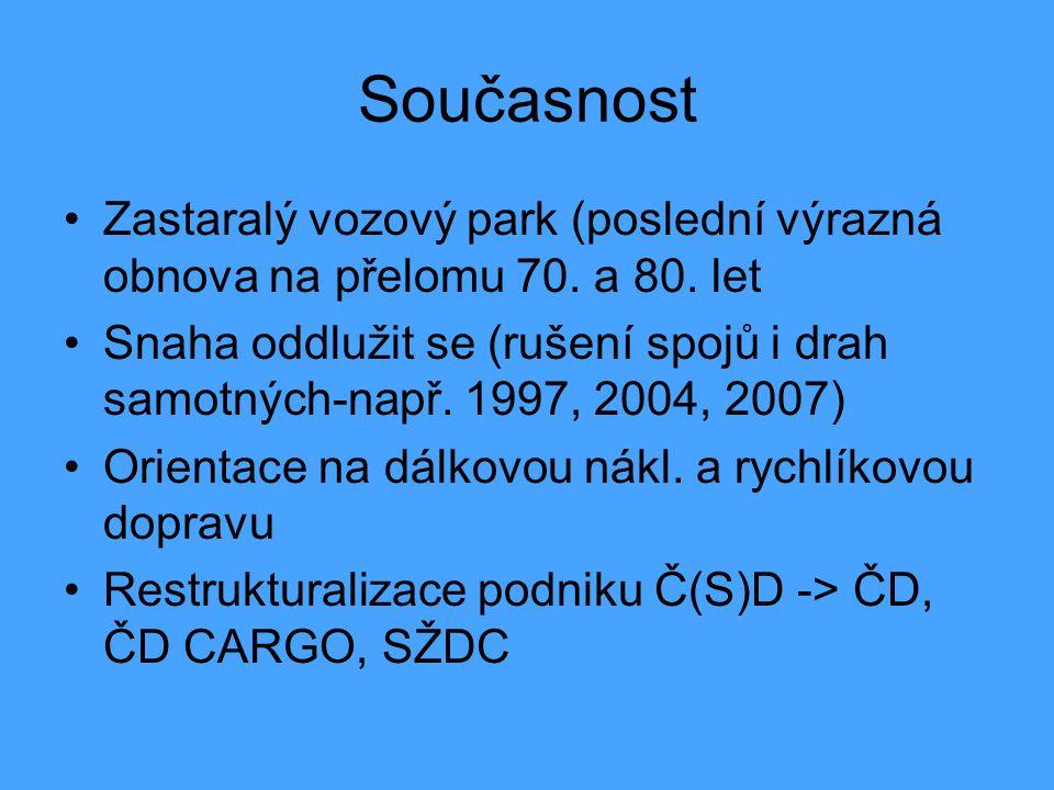 Současnost Zastaralý vozový park (poslední výrazná obnova na přelomu 70. a 80. let.