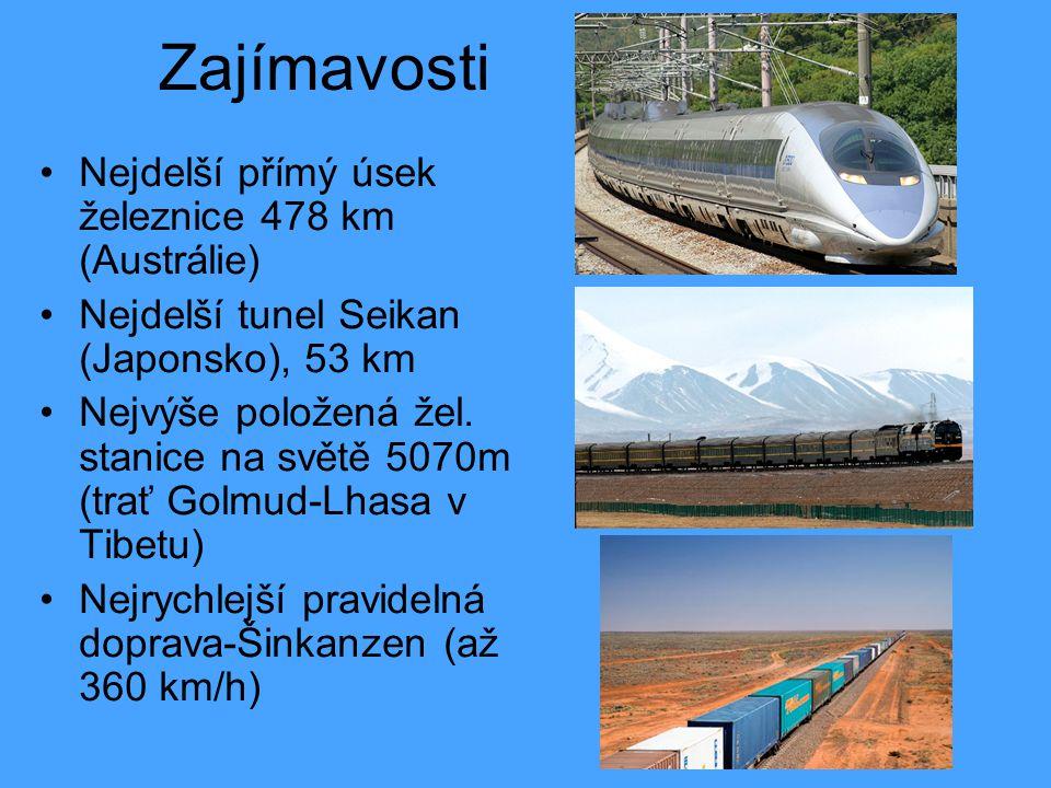 Zajímavosti Nejdelší přímý úsek železnice 478 km (Austrálie)
