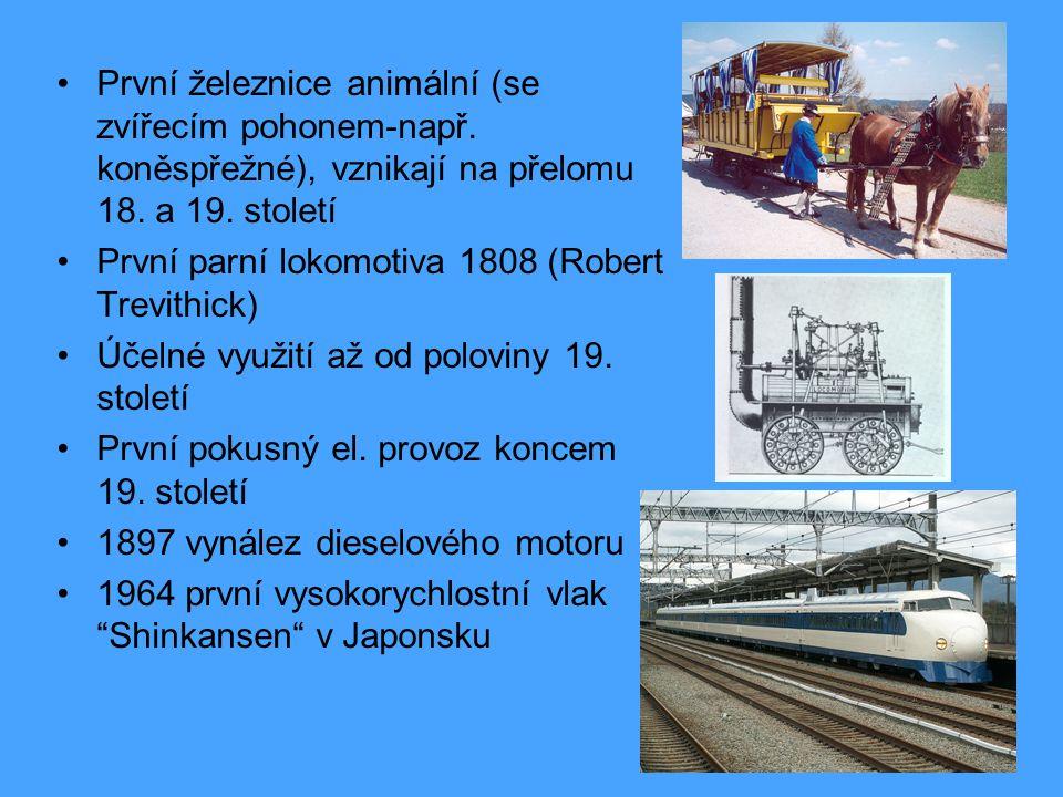 První železnice animální (se zvířecím pohonem-např