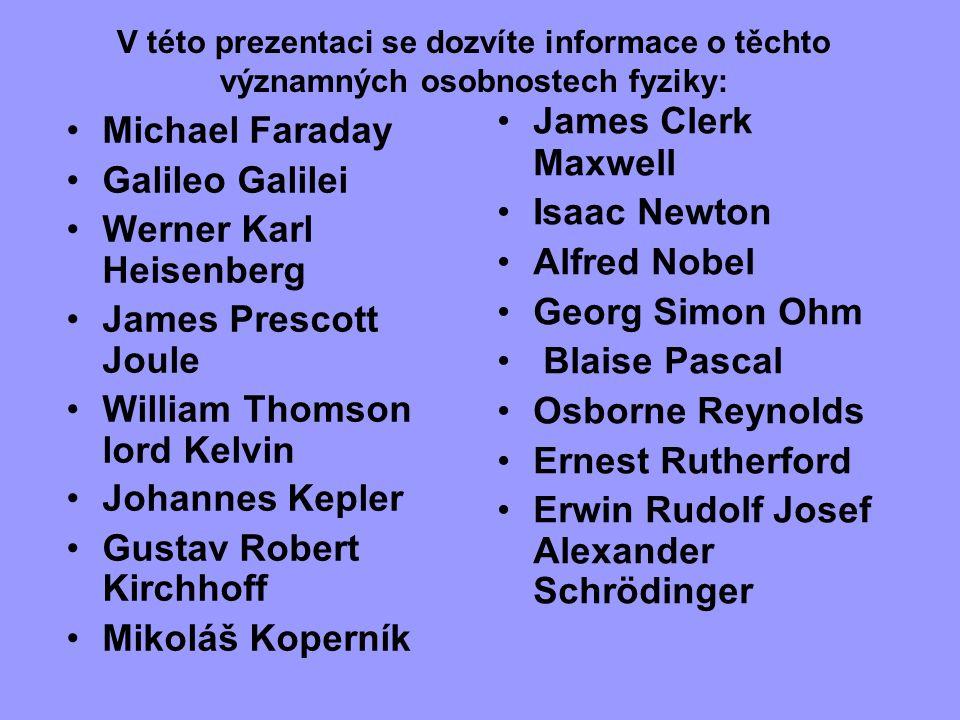 Erwin Rudolf Josef Alexander Schrödinger Michael Faraday