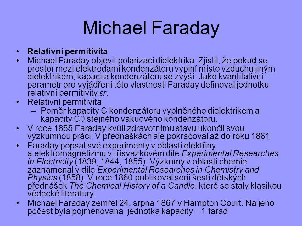 Michael Faraday Relativní permitivita