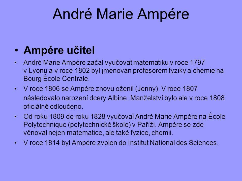 André Marie Ampére Ampére učitel