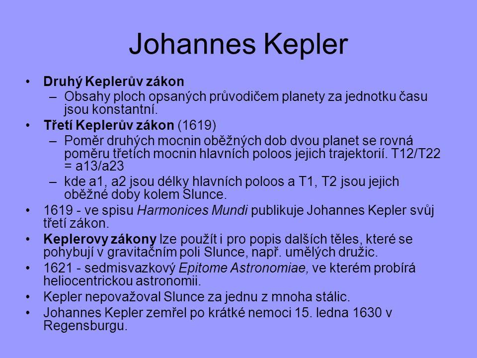 Johannes Kepler Druhý Keplerův zákon