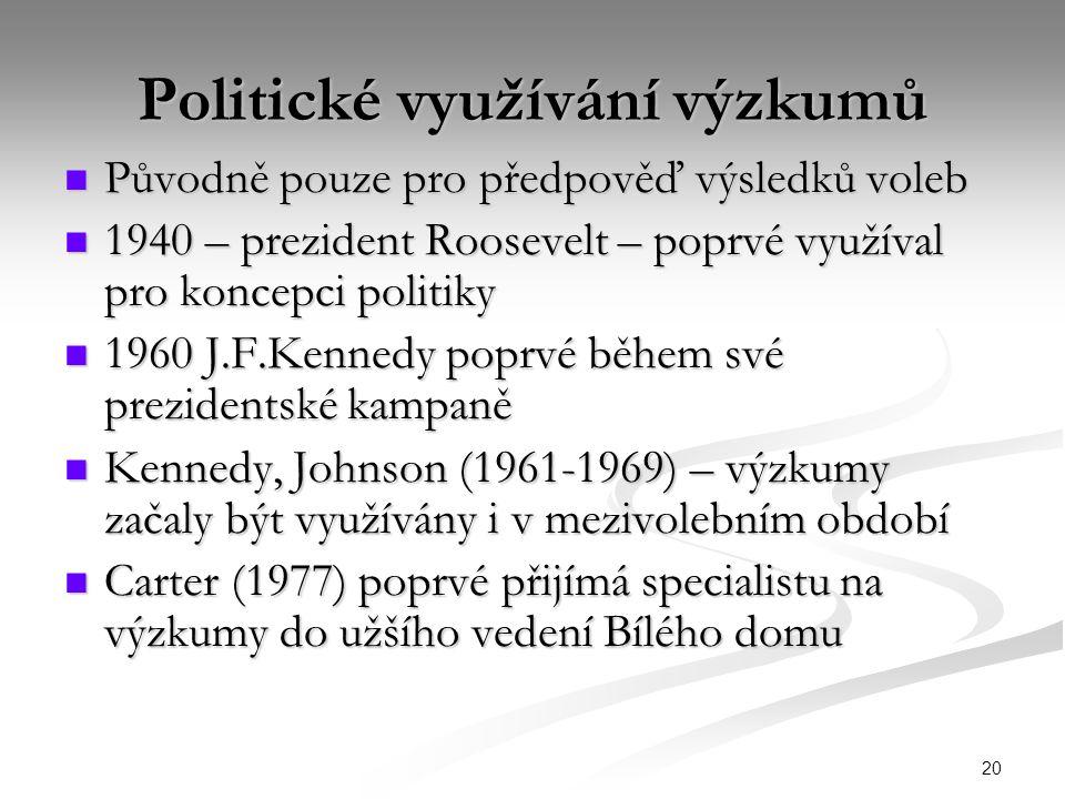 Politické využívání výzkumů