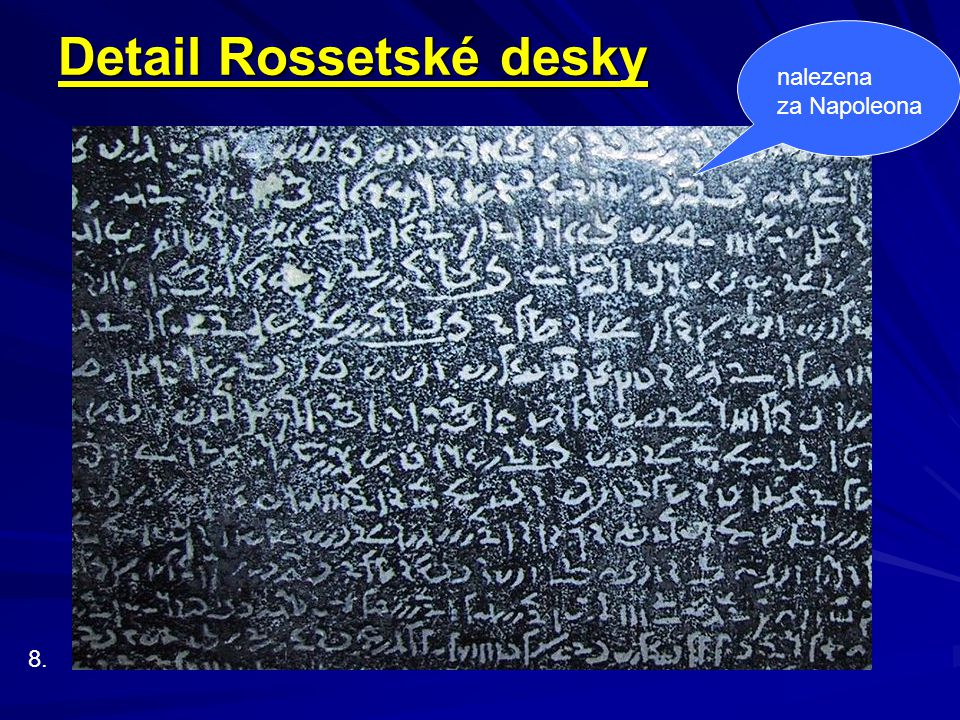 Detail Rossetské desky