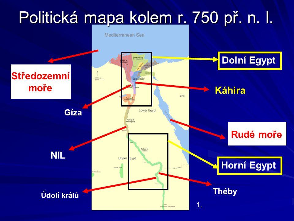 Politická mapa kolem r. 750 př. n. l.