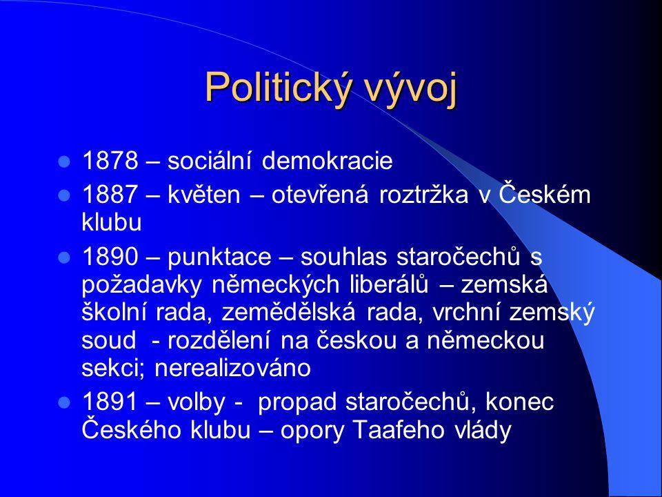 Politický vývoj 1878 – sociální demokracie