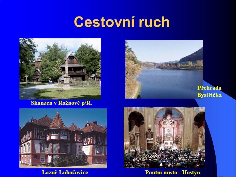 Cestovní ruch Přehrada Bystřička Skanzen v Rožnově p/R.