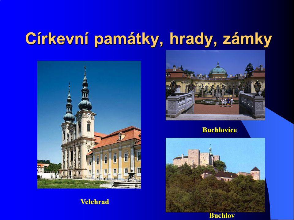 Církevní památky, hrady, zámky
