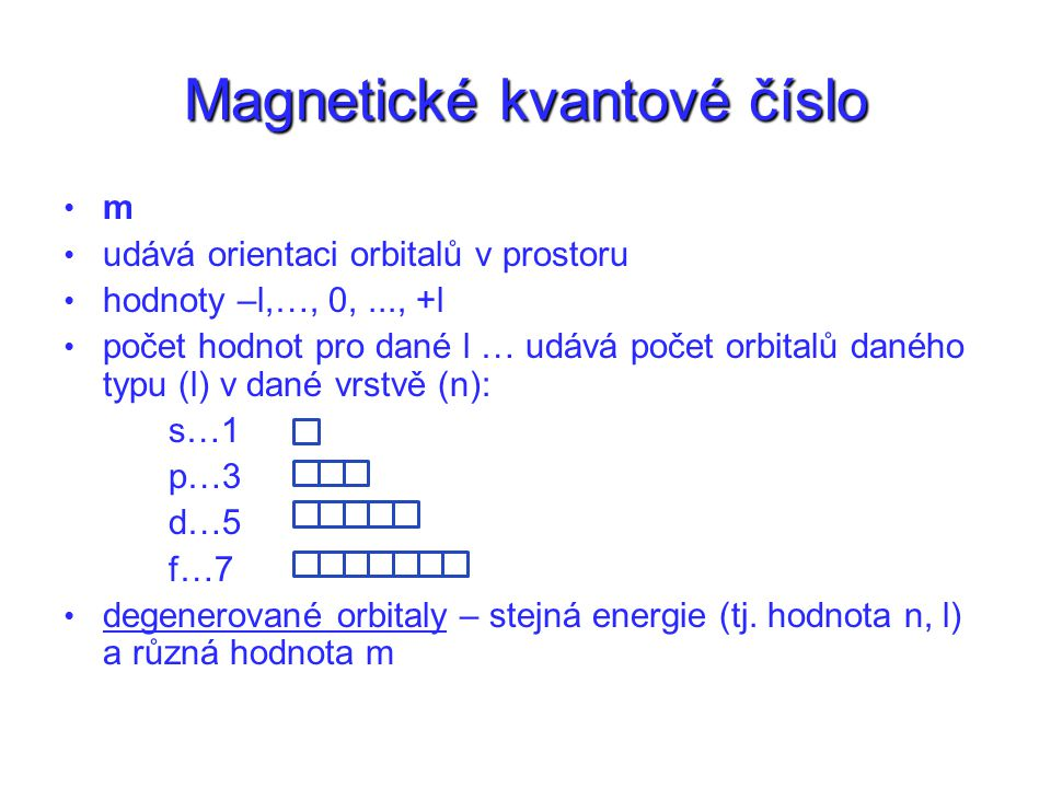 Magnetické kvantové číslo