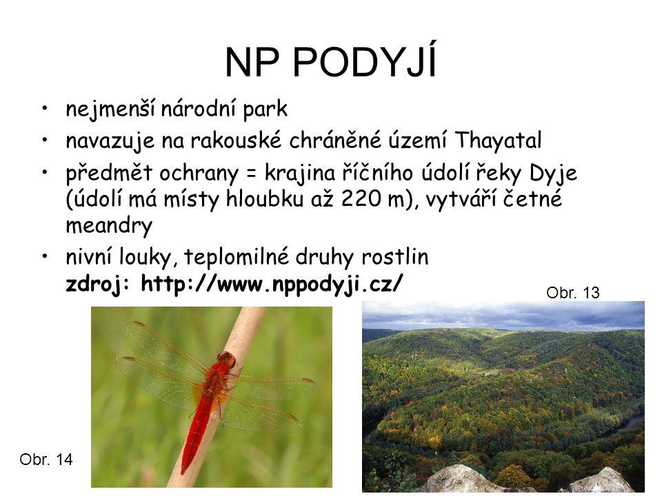 NP PODYJÍ nejmenší národní park