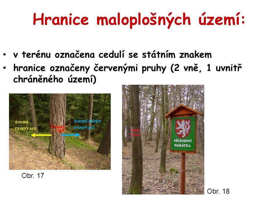 Hranice maloplošných území: