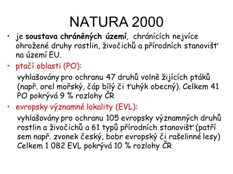 NATURA 2000 je soustava chráněných území, chránících nejvíce ohrožené druhy rostlin, živočichů a přírodních stanovišť na území EU.