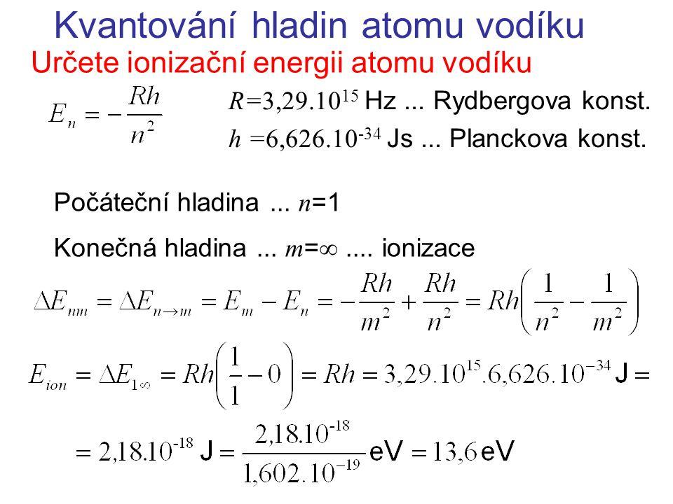 Kvantování hladin atomu vodíku