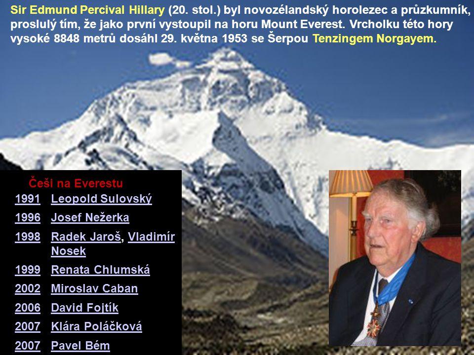 Sir Edmund Percival Hillary (20. stol