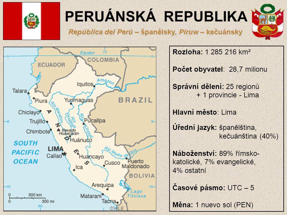 República del Perú – španělsky, Piruw – kečuánsky