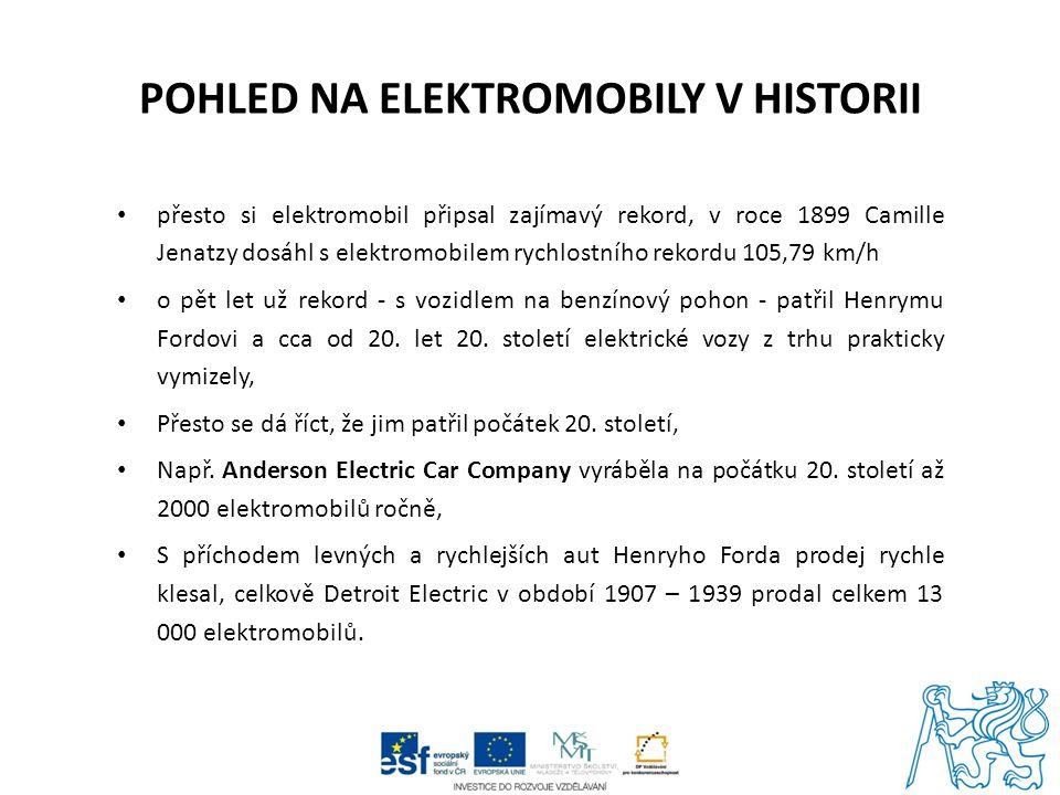 Pohled na elektromobily v historii