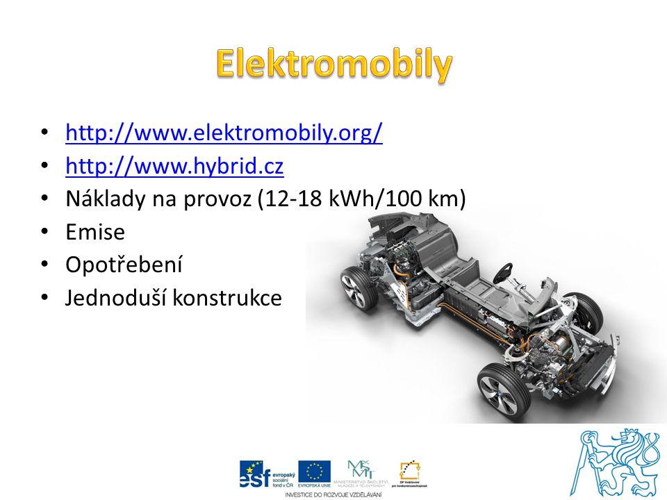 Elektromobily http://www.elektromobily.org/ http://www.hybrid.cz