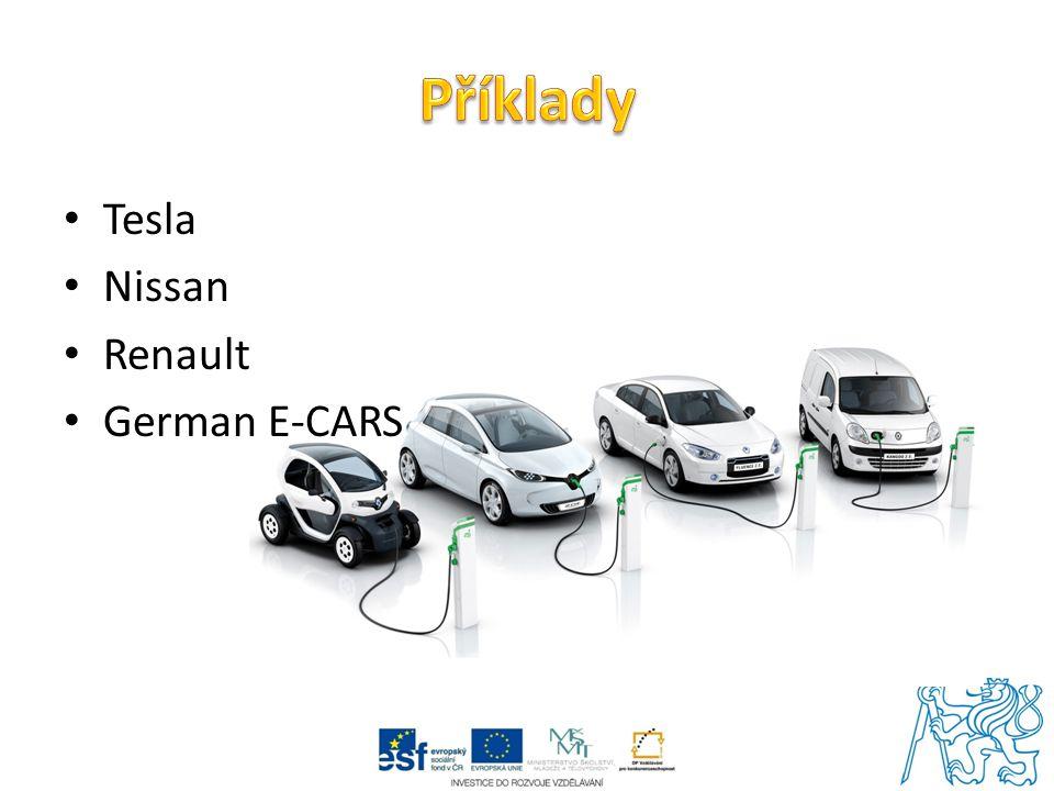 Příklady Tesla Nissan Renault German E-CARS
