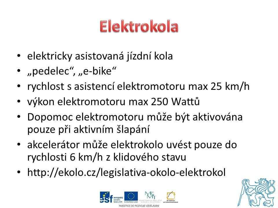 """Elektrokola elektricky asistovaná jízdní kola """"pedelec , """"e-bike"""