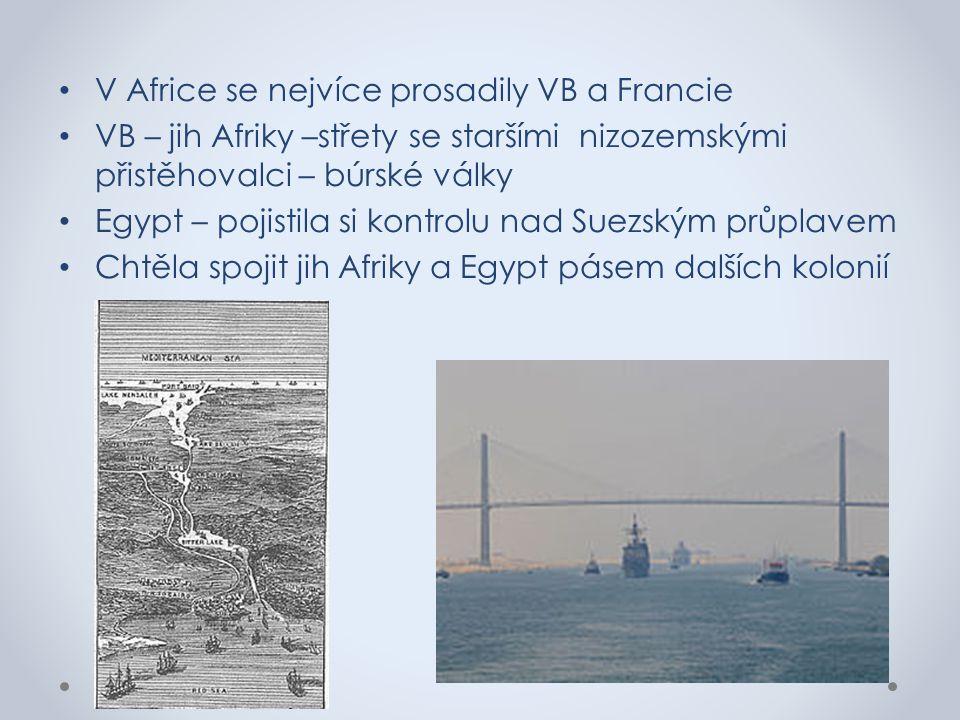 V Africe se nejvíce prosadily VB a Francie