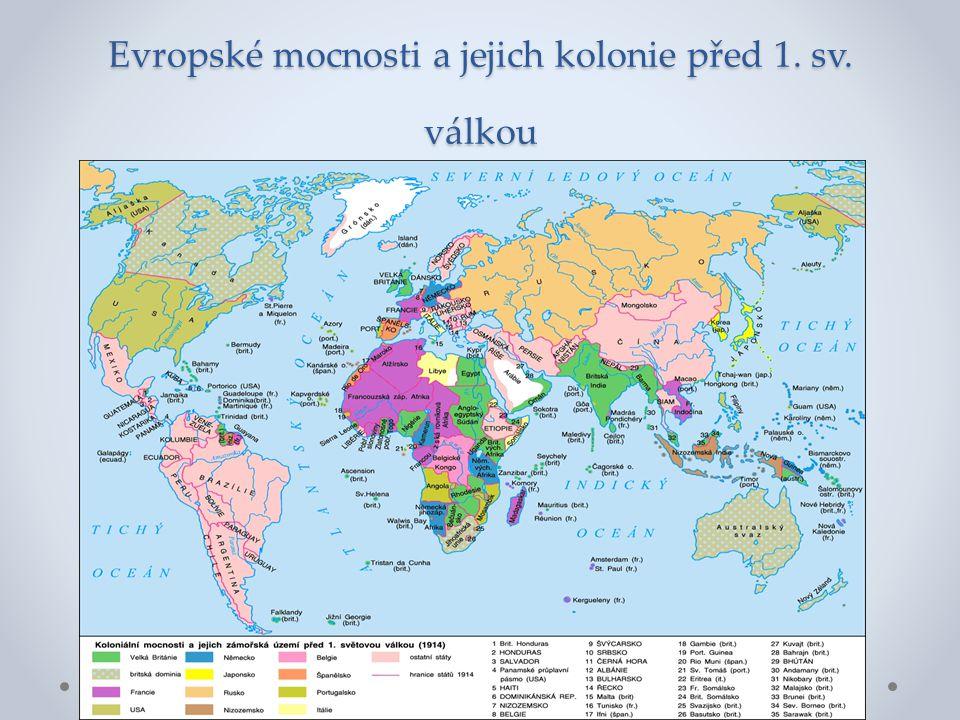 Evropské mocnosti a jejich kolonie před 1. sv. válkou