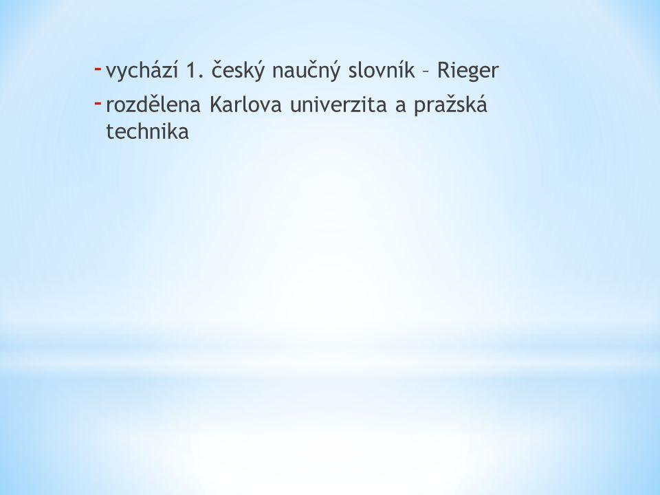 vychází 1. český naučný slovník – Rieger