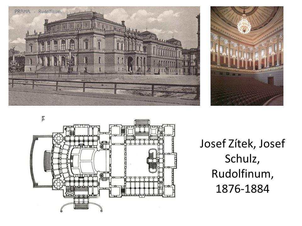 Josef Zítek, Josef Schulz, Rudolfinum, 1876-1884