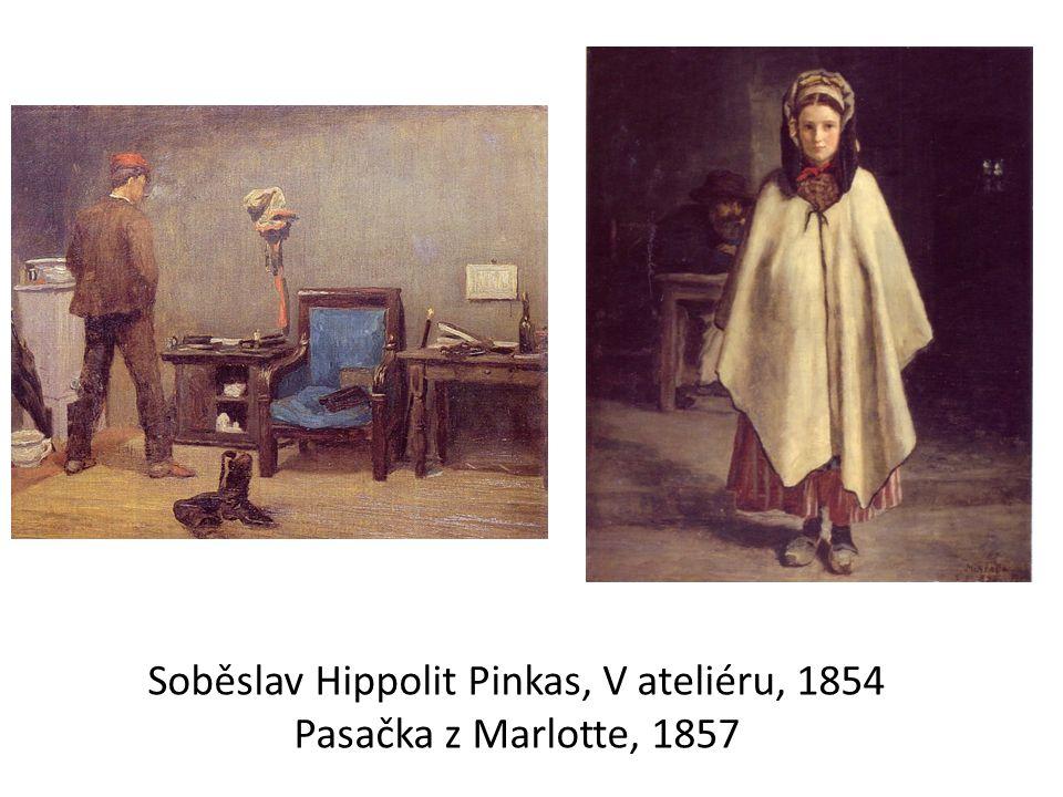 Soběslav Hippolit Pinkas, V ateliéru, 1854 Pasačka z Marlotte, 1857