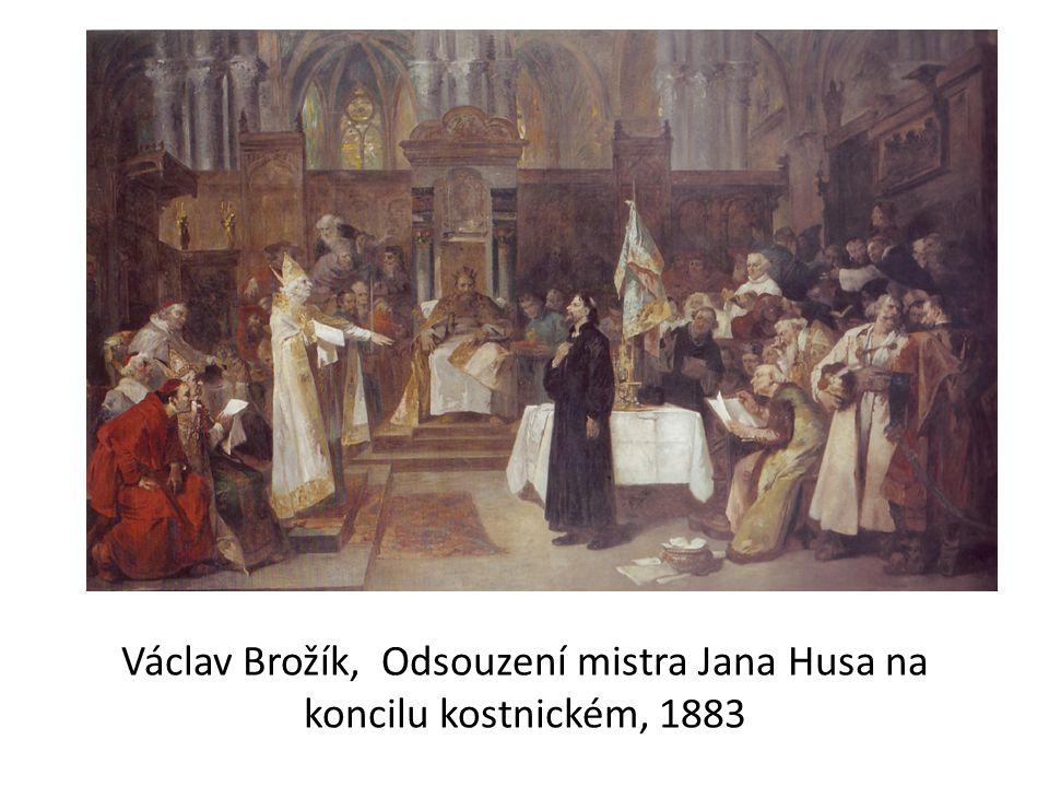 Václav Brožík, Odsouzení mistra Jana Husa na koncilu kostnickém, 1883