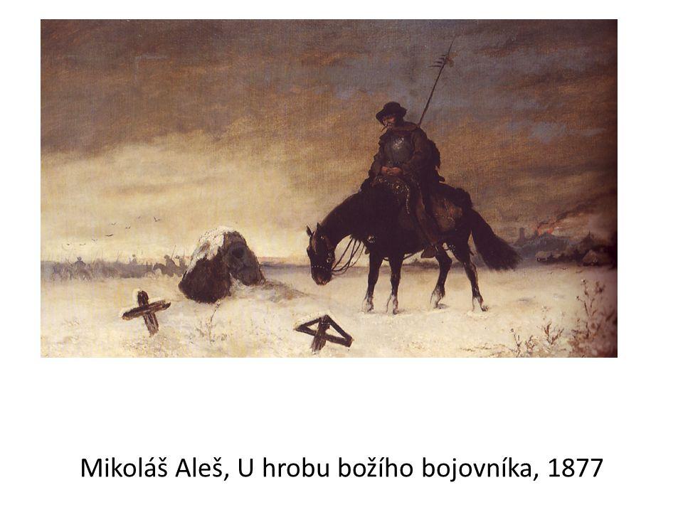 Mikoláš Aleš, U hrobu božího bojovníka, 1877