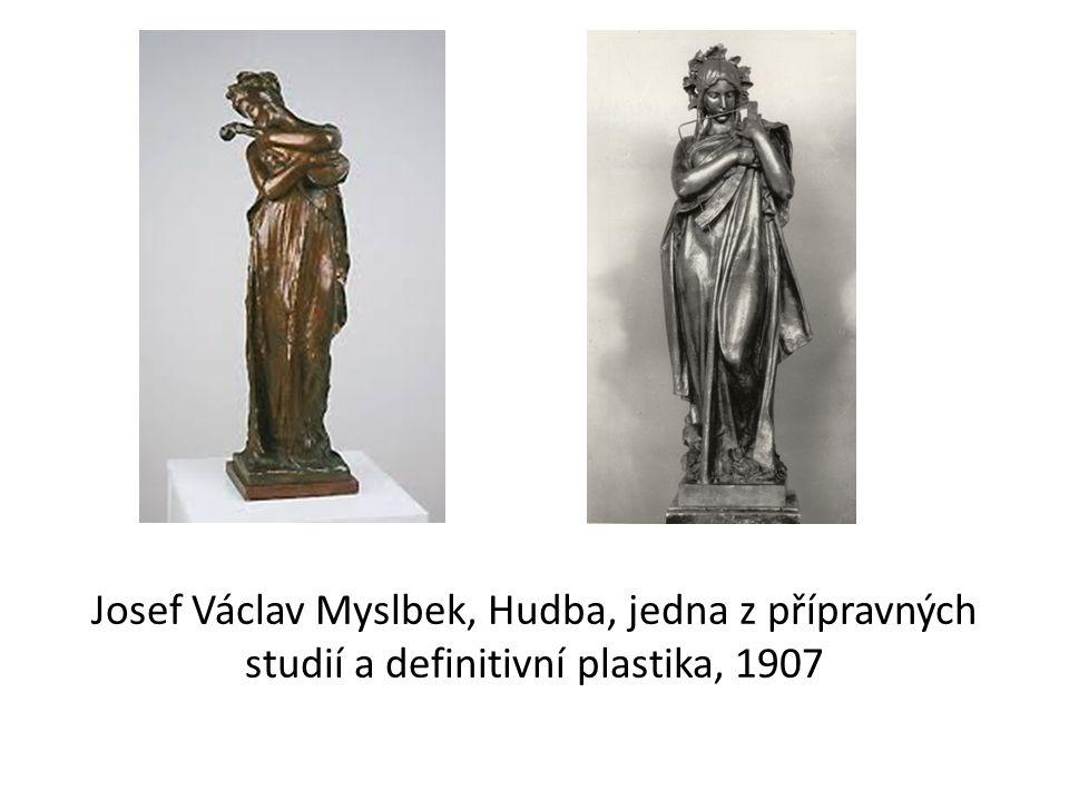 Josef Václav Myslbek, Hudba, jedna z přípravných studií a definitivní plastika, 1907