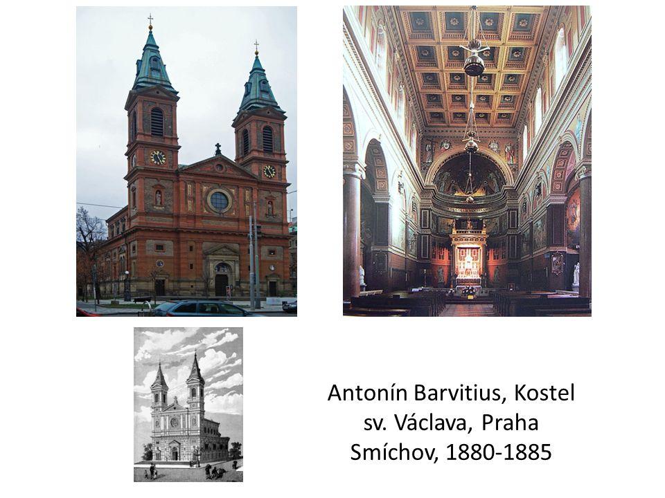 Antonín Barvitius, Kostel sv. Václava, Praha Smíchov, 1880-1885