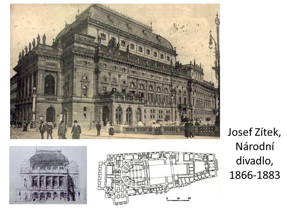 Josef Zítek, Národní divadlo, 1866-1883