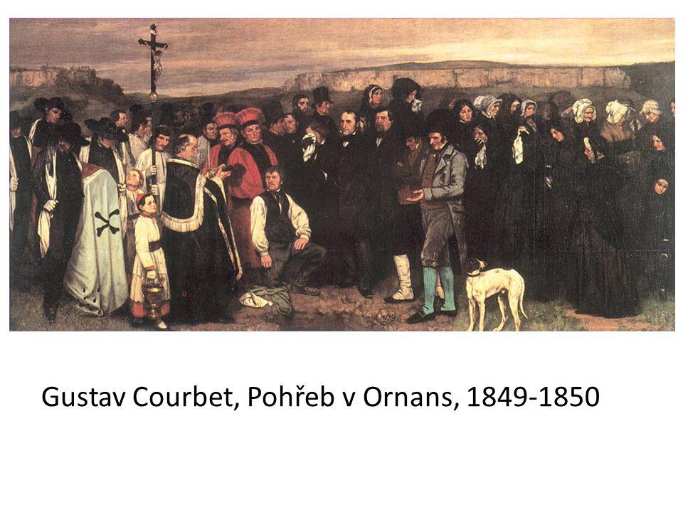 Gustav Courbet, Pohřeb v Ornans, 1849-1850
