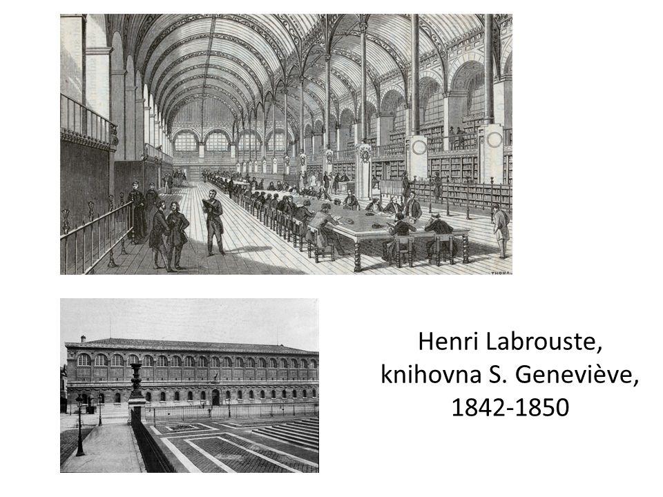 Henri Labrouste, knihovna S. Geneviève, 1842-1850