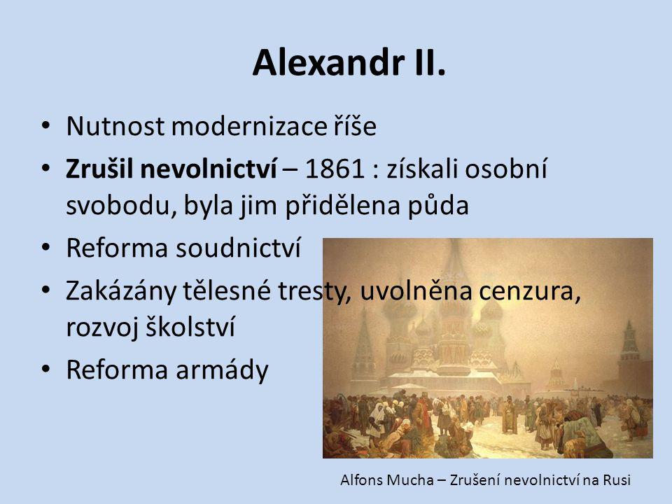 Alexandr II. Nutnost modernizace říše
