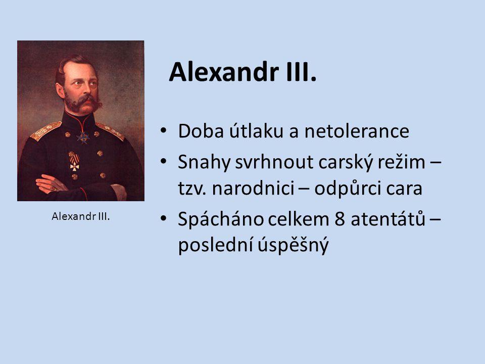 Alexandr III. Doba útlaku a netolerance