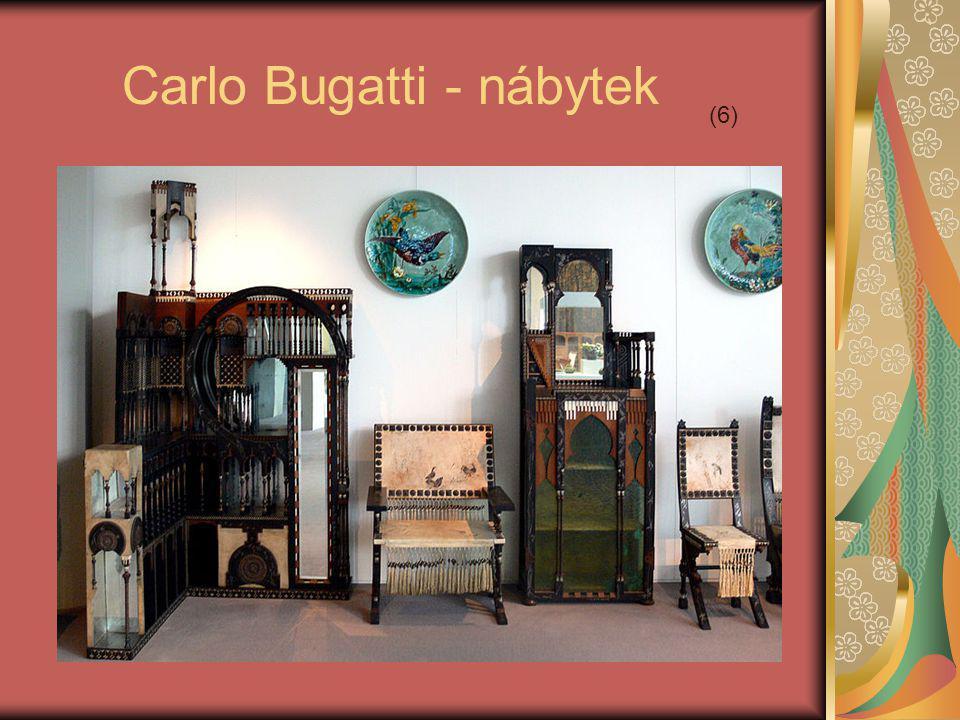 Carlo Bugatti - nábytek