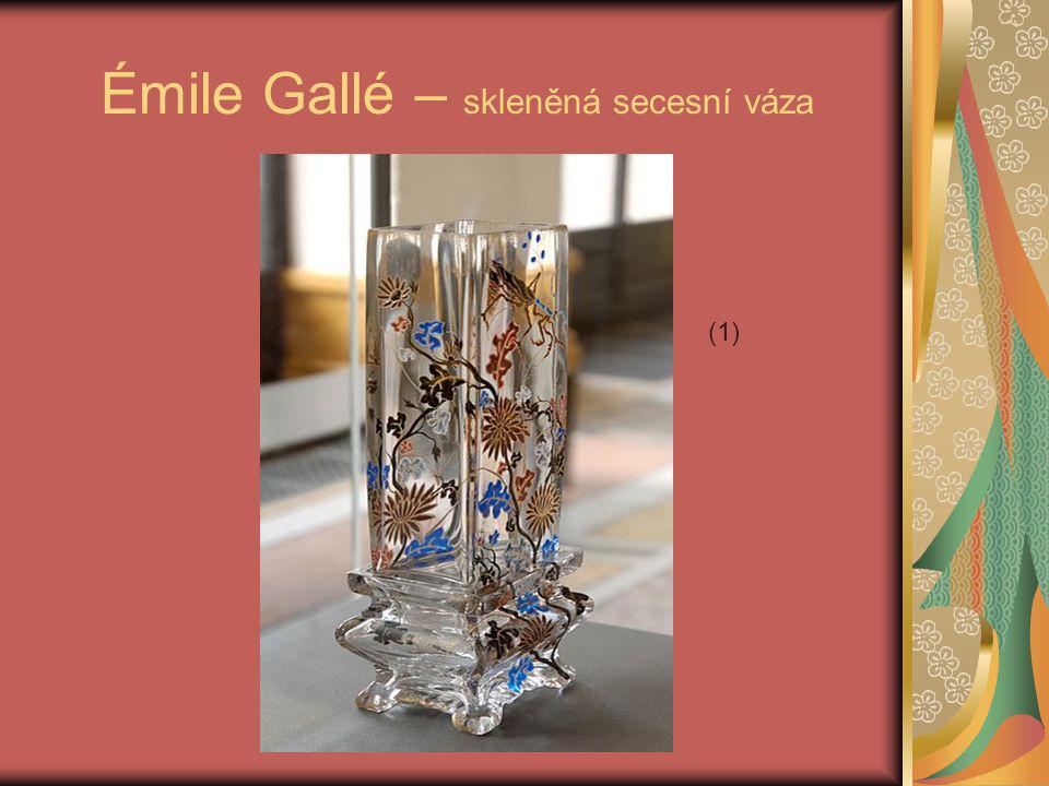 Émile Gallé – skleněná secesní váza