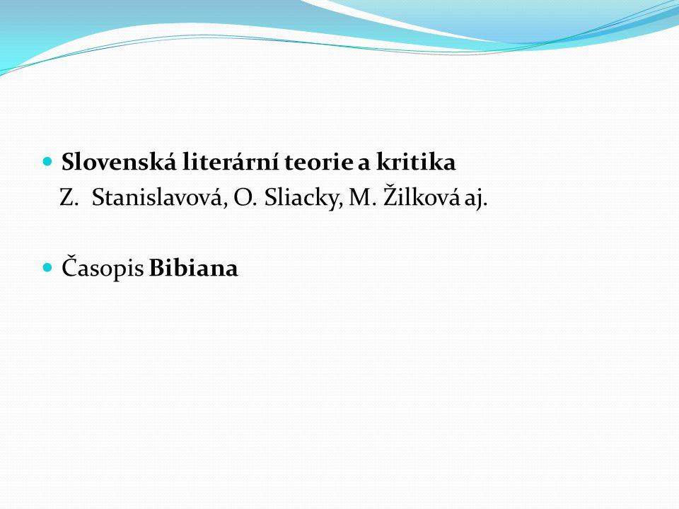 Slovenská literární teorie a kritika