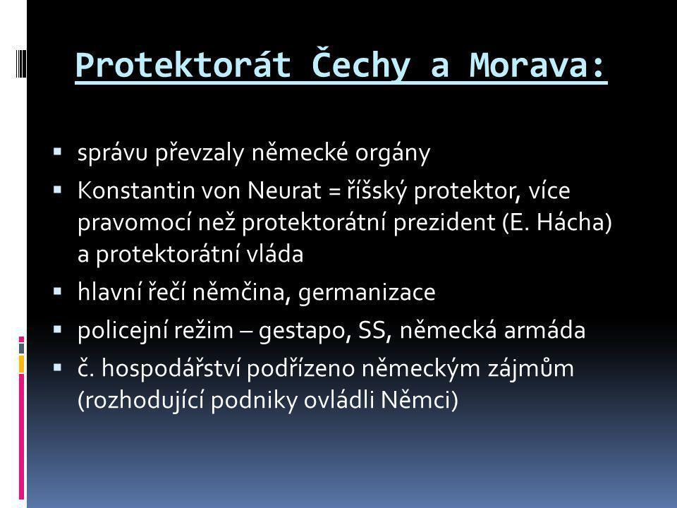 Protektorát Čechy a Morava: