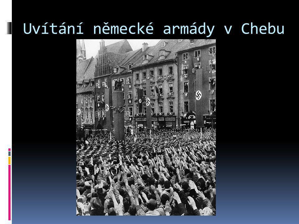 Uvítání německé armády v Chebu